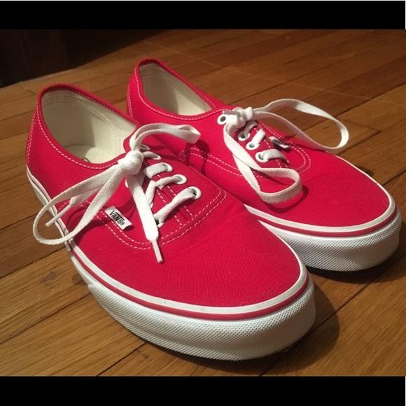 1d4c1a0bf29 Vans Shoes - RED VANS AUTHENTIC. Women s Size 12   Men s 10